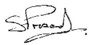 Executive Director Sanjay Prasad's signature